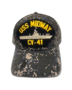 USS Midway Blue Digital Camo Cap