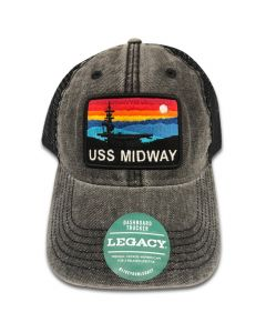 USS Midway Sunset Trucker Cap