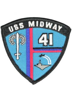 USS Midway Shield Patch