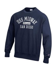 Adult USS Midway Champion Reverse Weave Crew Neck