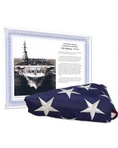 American Flag Flown on the USS Midway