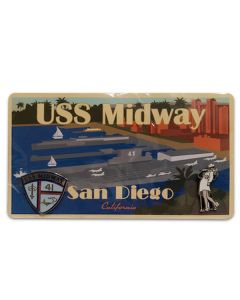 USS Midway Kissing Statue and Shield Pin Set