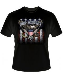 Adult USS Midway Patriotic Eagle Tee