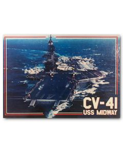 USS Midway out at Sea Postcard