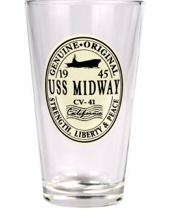 USS Midway Pint Glass