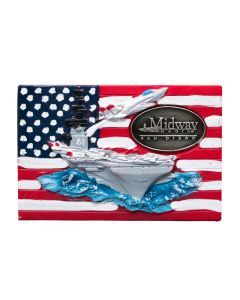 USS Midway United States Flag Magnet