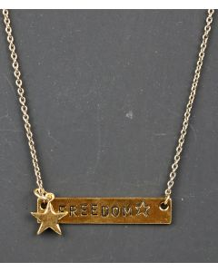 Freedom Star Gold Pendant Necklace
