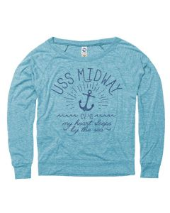 Juniors USS Midway My Heart Sleeps By the Sea Pullover