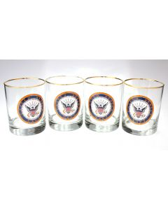 U.S. Navy Double Old Fashioned Glasses (Set of 4)