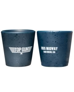Top Gun USS Midway Logo Shot Glass